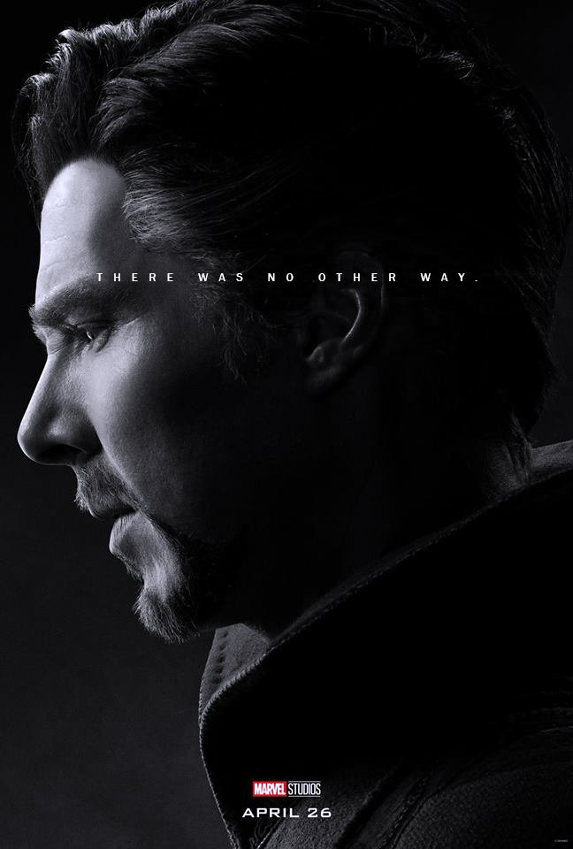 Poster du film Avengers: Endgame avec les derniers mots de Doctor Strange (Benedict Cumberbatch)