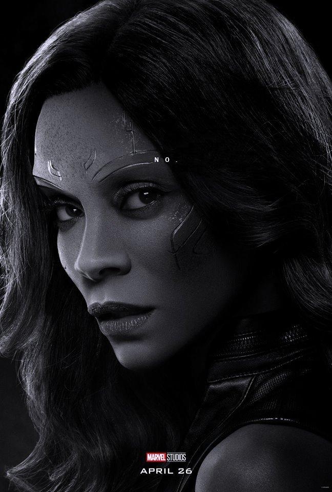 Poster du film Avengers: Endgame avec les derniers mots de Gamora (Zoe Saldana)