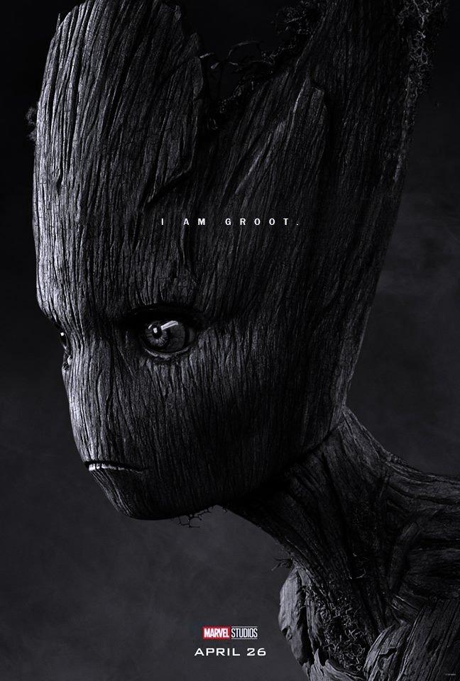 Poster du film Avengers: Endgame avec les derniers mots de Teen Groot