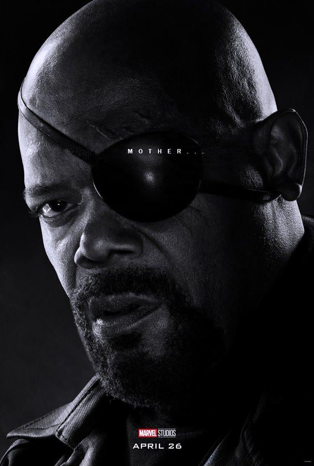Poster du film Avengers: Endgame avec les derniers mots de Nick Fury (Samuel L. Jackson)