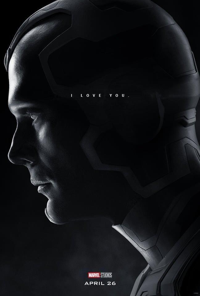 Poster du film Avengers: Endgame avec les derniers mots de Vision (Paul Bettany)