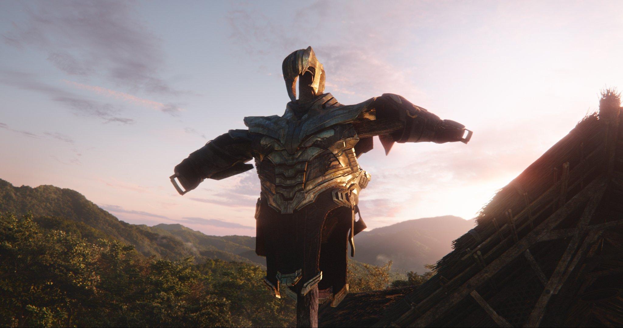 Photo du film Avengers: Endgame avec l'armure de Thanos