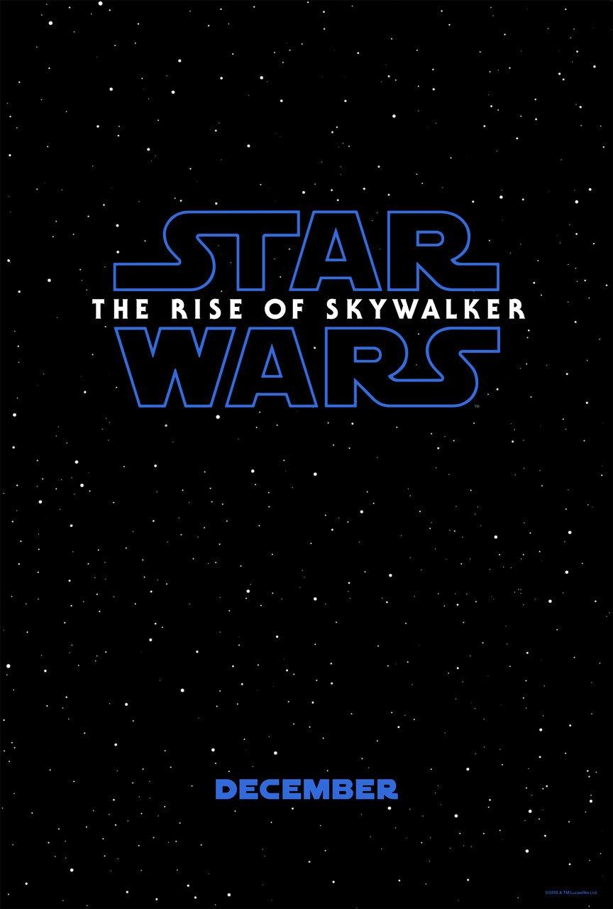 Poster teaser du film Star Wars: The Rise of Skywalker réalisé par J.J. Abrams