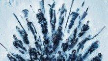 Poster de la huitième saison de la série Game of Thrones créée par David Benioff et D. B. Weiss