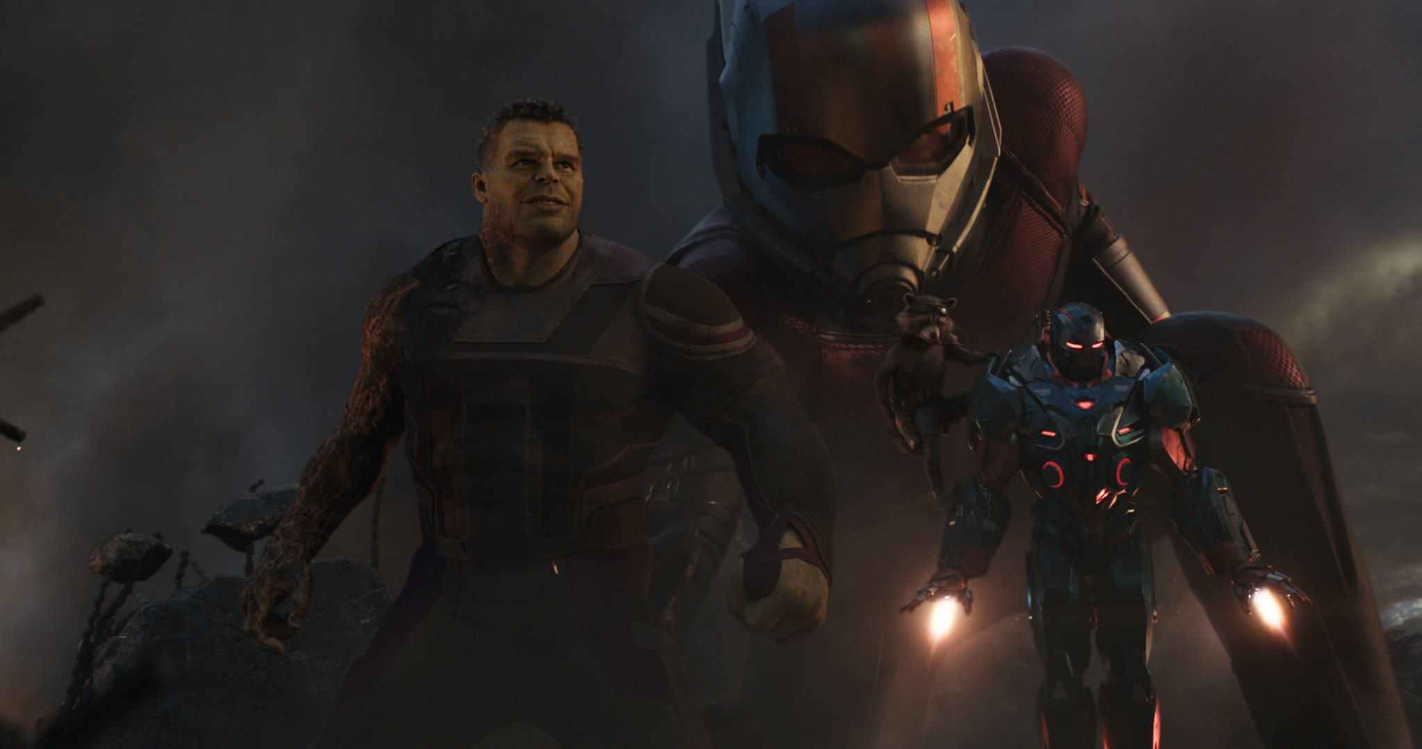 Photo du film Avengers: Endgame avec Hulk, Ant-Man, Rocket et War Machine