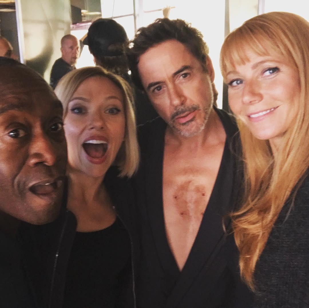 Photo du tournage du film Avengers: Endgame avec Gwyneth Paltrow