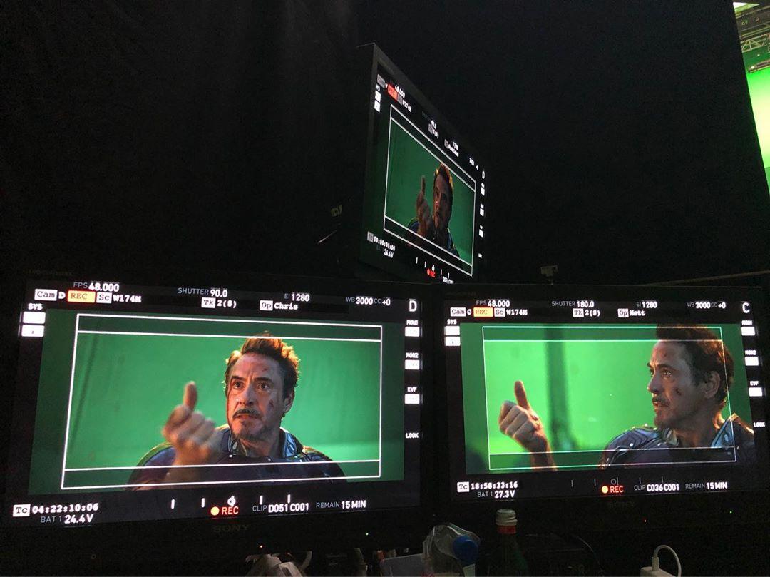 Huitième photo du tournage du film Avengers: Endgame avec le snap de Robert Downey Jr. (Tony Stark / Iron Man)
