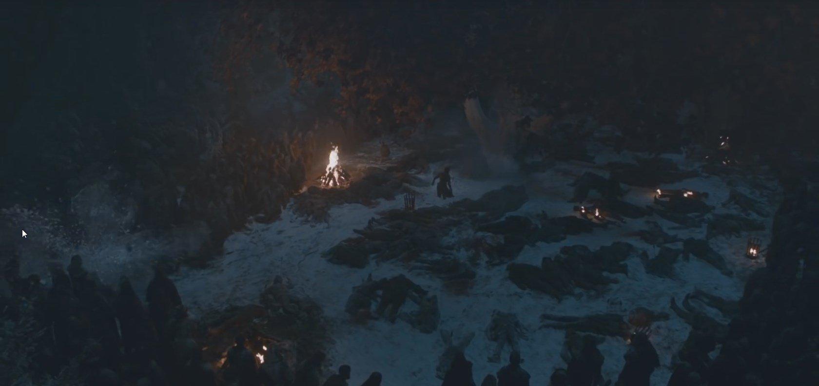 Photo de la huitième saison de la série Game of Thrones avec Arya Stark