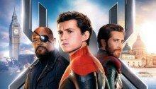 Poster du film Spider-Man: Far From Home réalisé par Jon Watts, d'après un scénario de Chris McKenna et Erik Sommers, avec Tom Holland, Samuel L. Jackson et Jake Gyllenhaal