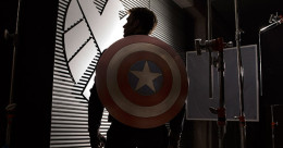Bannière du comic movie Captain America, le soldat de l'hiver